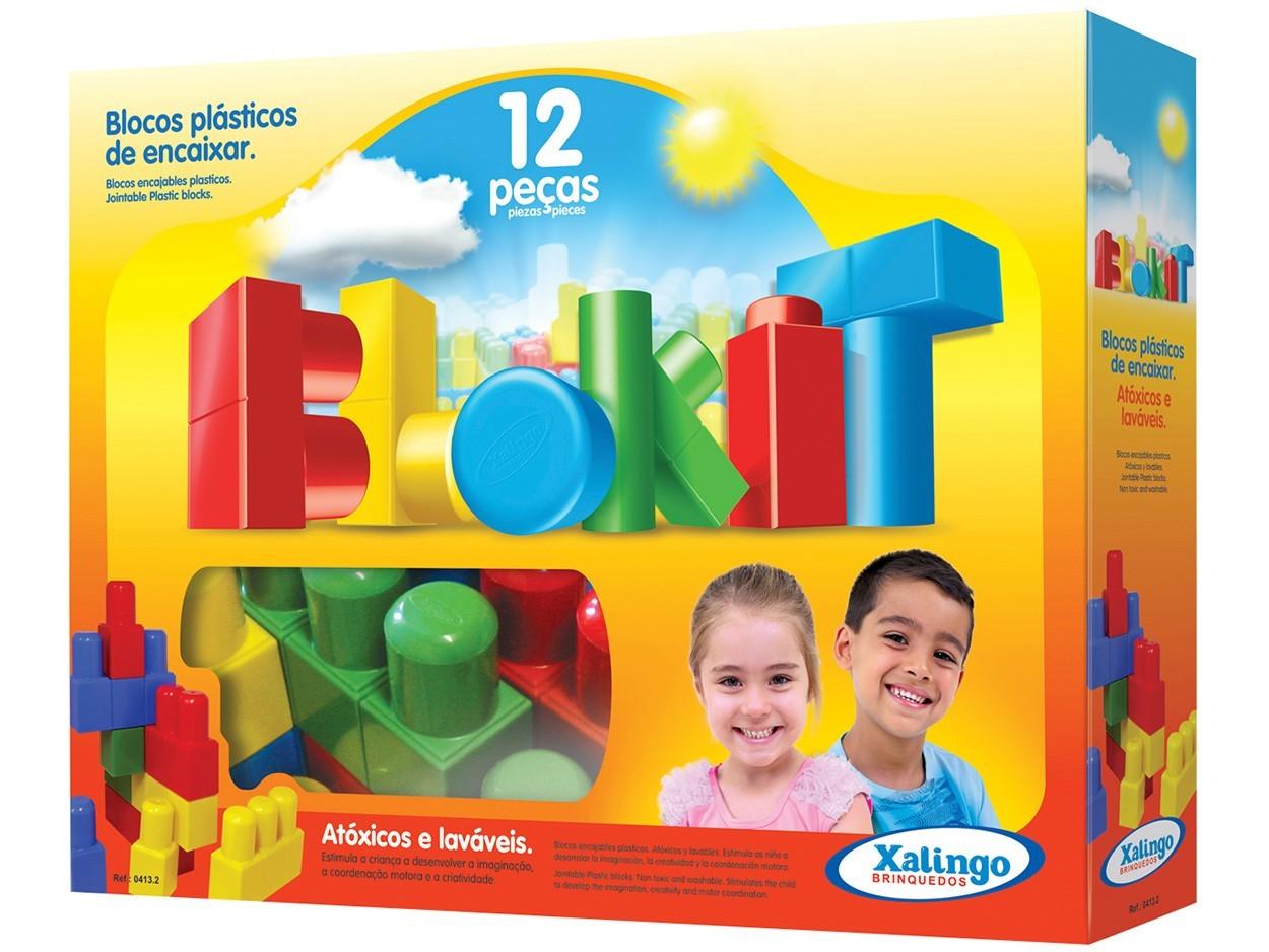Blocos Plásticos de Encaixarcom 12 peças Xalingo