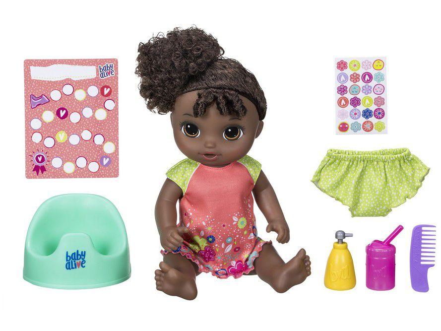 Boneca Baby Alive Negra Primeiro Peniquinho Hasbro