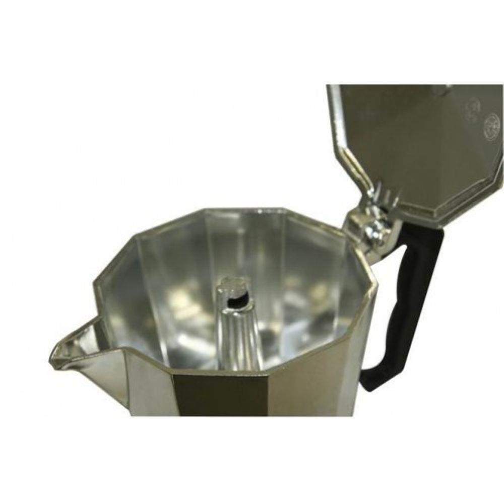 Cafeteira Tipo Italiana em Alumínio 3 Xícaras - Mimo Style - PRATA