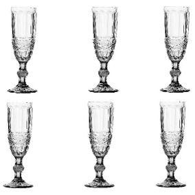 Conjunto 6 Taças para Champanhe Flash 140 ml - Lyor