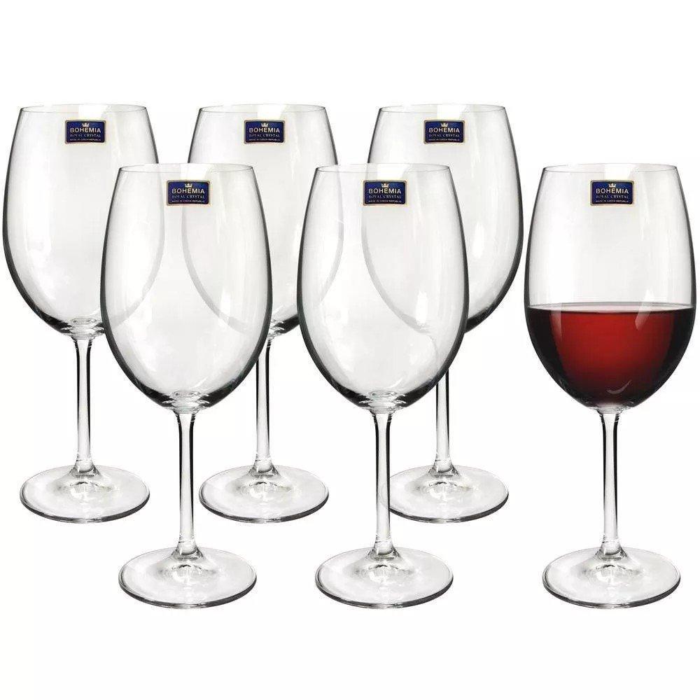 Conjunto 6 tacas Vinho Bordeaux 540ml Bohemia