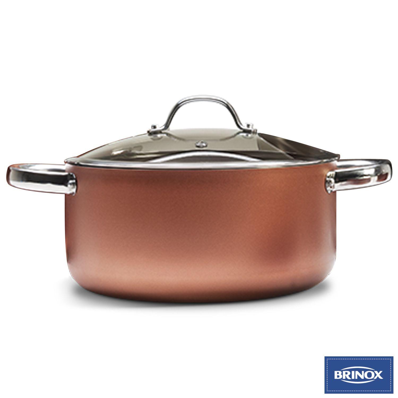 Conjunto de Panelas Antiaderente 5 Peças 7070/100 Brinox Curry