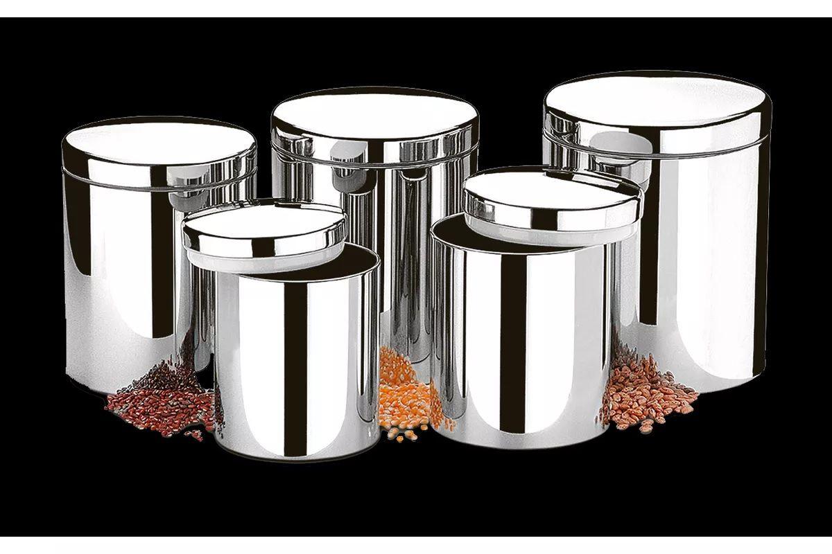 Conjunto de Potes para Mantimentos com Tampa 5 Peças - Suprema Brinox