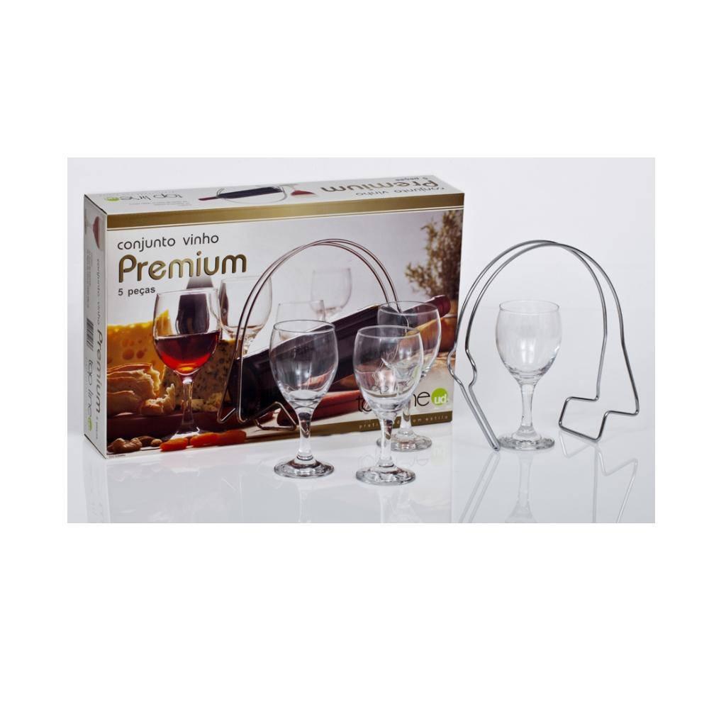 Conjunto para Vinho Premium Com 5 Peças - Top Line