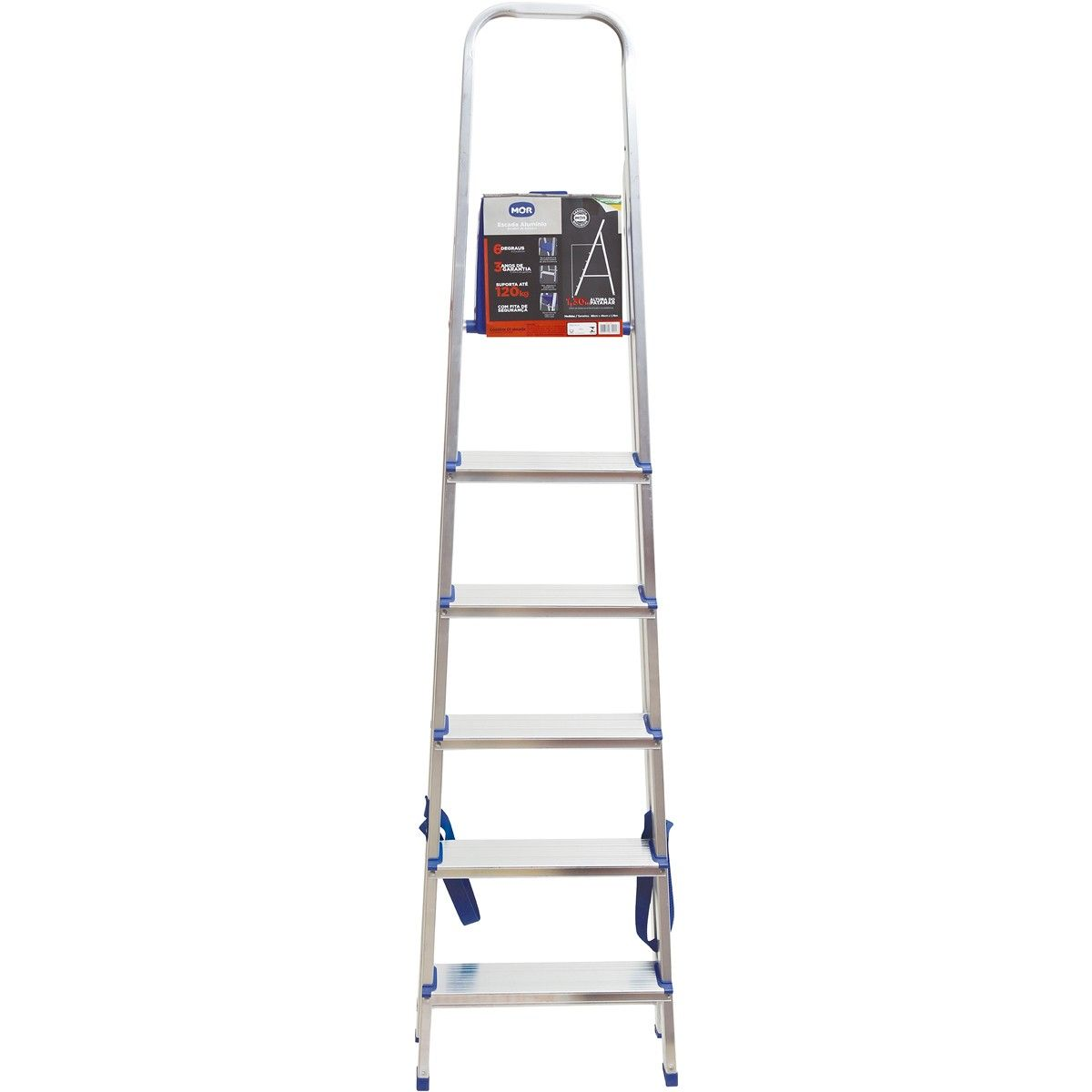 Escada de Alumínio 6 Degraus - Mor