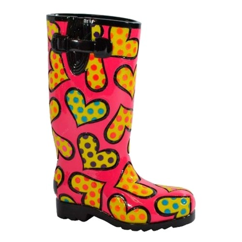 Escultura Shoes Rainboot Romero Britto