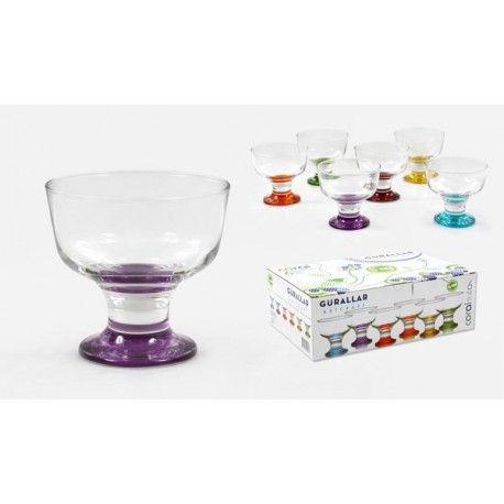 Jogo de Taças para Sobremesa - Colorido 6pçs- MIMO