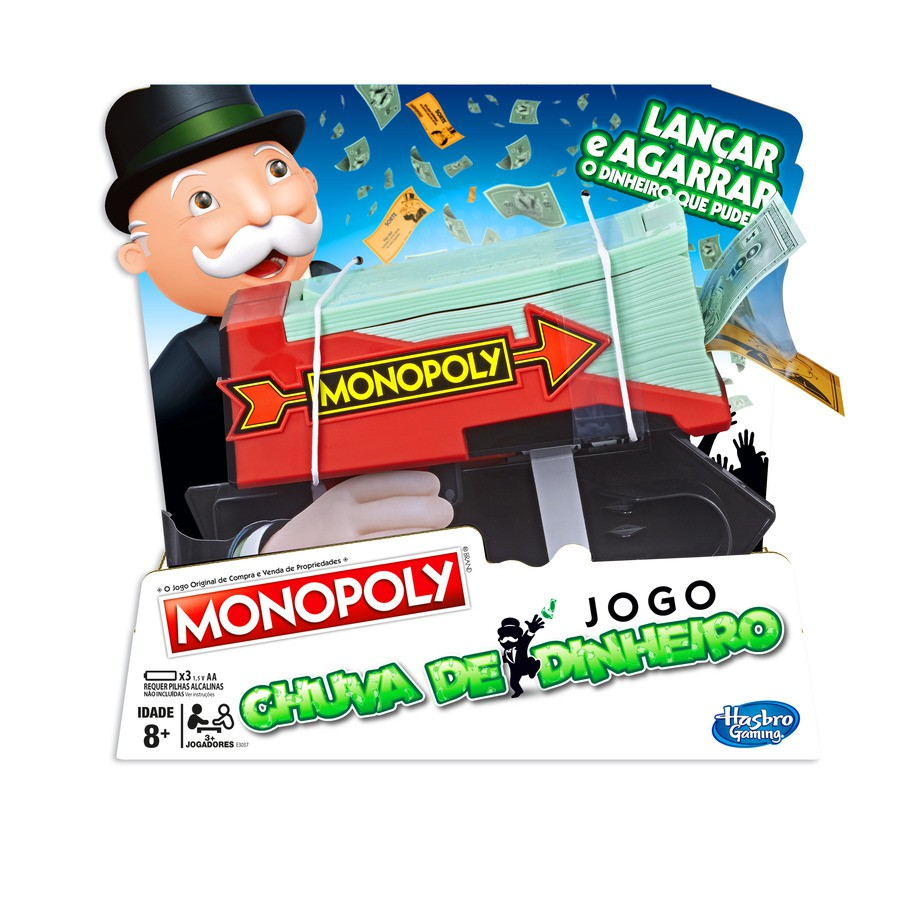 JOGO MONOPOLY CASH AND GRAB HASBRO