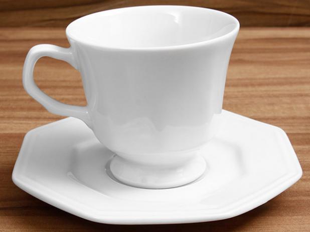 Jogo Xícaras de Chá com Pires Porcelana 6 Peças Prisma- Schmidt