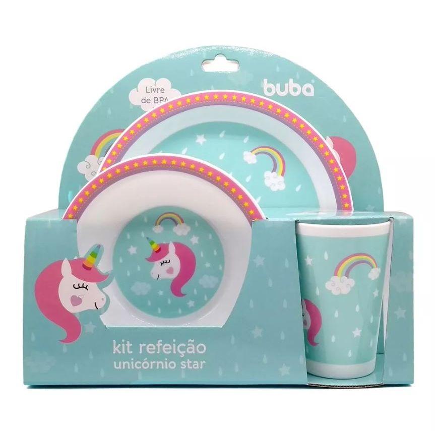 Kit Refeição Unicórnio Star - Buba Toys