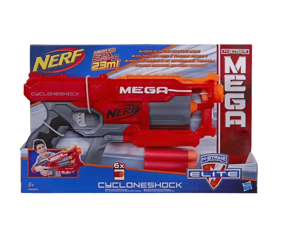 Lançador Nerf N-Strike Elite Mega CycloneShock Hasbro