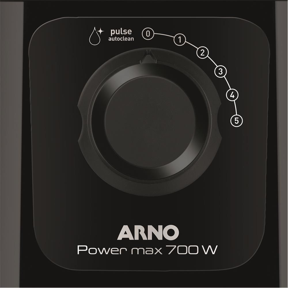 Liquidificador Arno Power Max LN50 com 5 Velocidades 700W  Preto