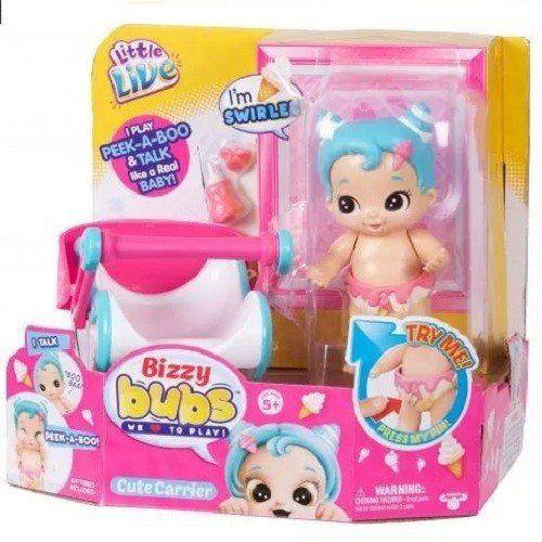 Mini Boneca Bizzy Bubs Cestinha / Bercinho DTC