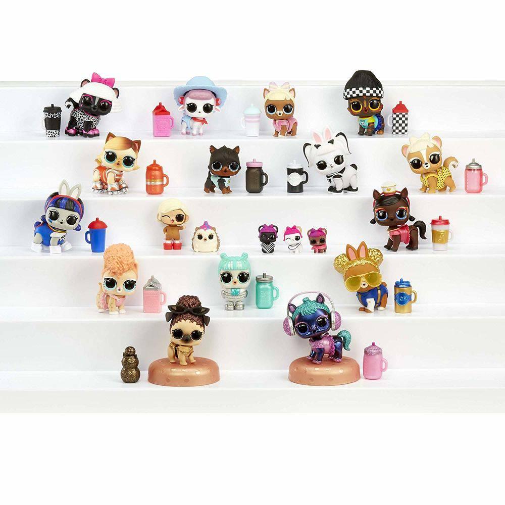 Mini Boneca Surpresa LOL Surprise Fuzzy Pets 7 Surpresas Candide