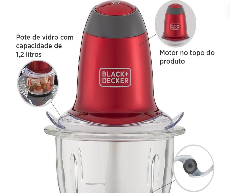 Miniprocessador MP200V B&D Vermelho