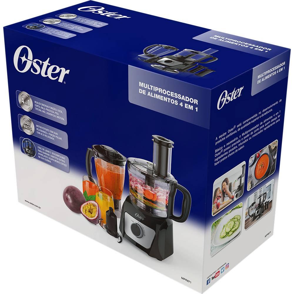 Multi Processador de Alimentos Preto e Inox Oster