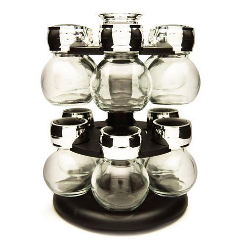 Porta Tempero Globe Com Suporte Giratório Yoi - 13 Peças