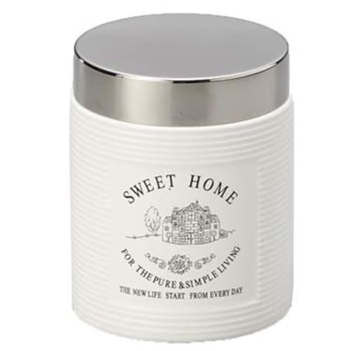 Pote de Porcelana com tampa de Alumínio - Bon Gourmet