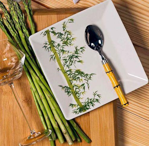 Prato Sobremesa Bamboo Oxford