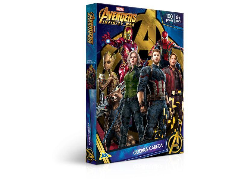Quebra-cabeça 100 peças - Os Vingadores: Guerra Infinita