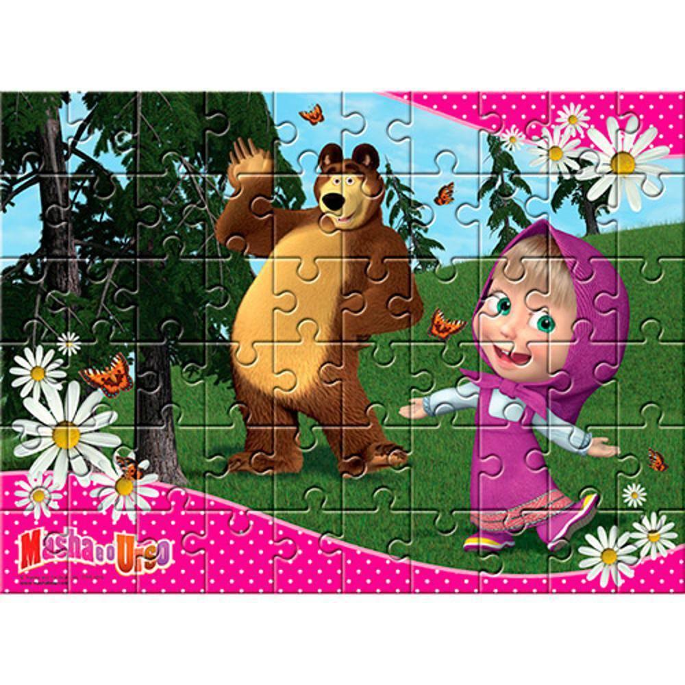 Quebra Cabeça Masha E O Urso 60 Pçs Estrela