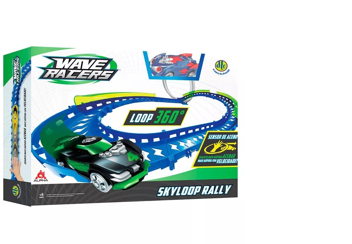 Veículo e Pista - Wave Racers - Skyloop Rally - DTC