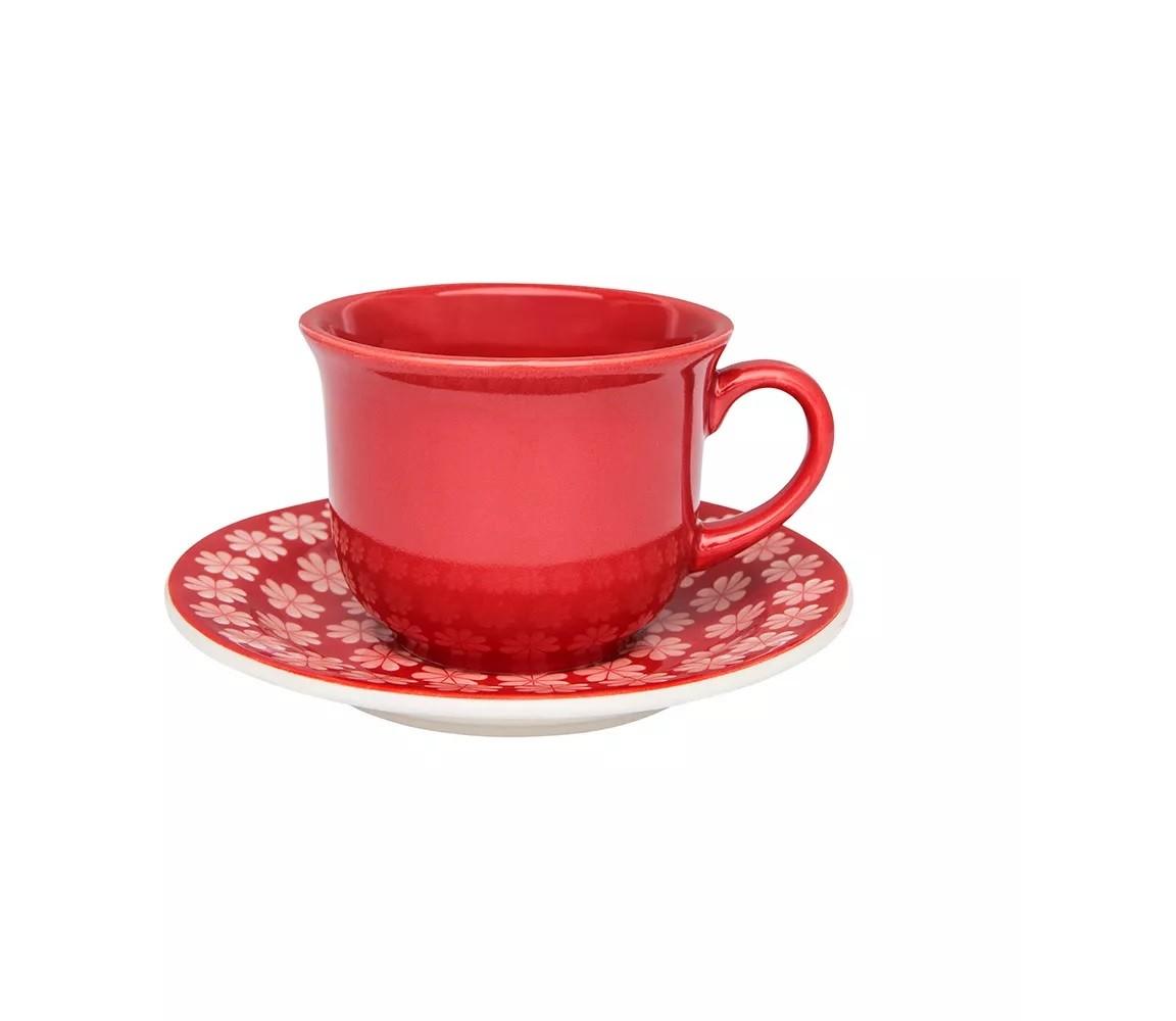 Xícara de Chá com Pires Renda Oxford