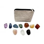 CÓPIA - Kit de Cristais dos Chakras - 10 Pedras Semi Preciosas