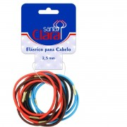 Elástico Colorido 2,5mm para Cabelo Santa Clara