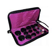 Kit para Massagens com Pedras Quentes Rosa 110 Volts