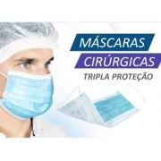 Máscara Tnt Tripla Camada Cirúrgica com Anvisa Santa Clara