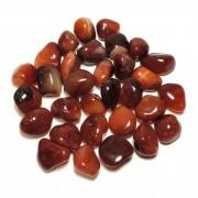 Pedra Rolada Quartzo Ágata Vermelha 2 á 3 cm 500g