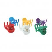 Presilha Tridente  Pequena 6 unidades Colorida