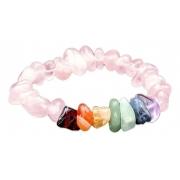 Pulseira Pedras Dos 7 Chakras com Quartzo Rosa Novabelleza