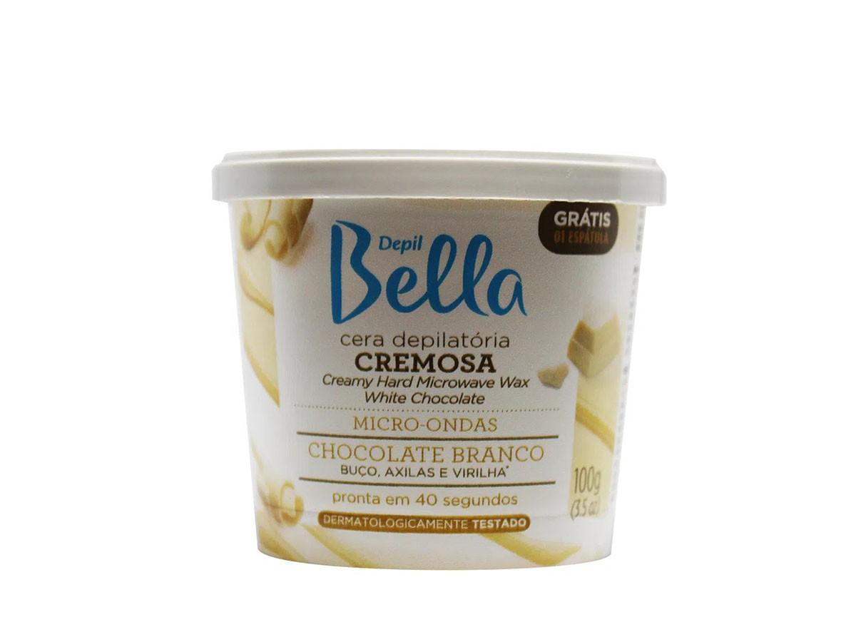Cera Cremosa Micro-ondas Chocolate Branco 200g Depil Bella