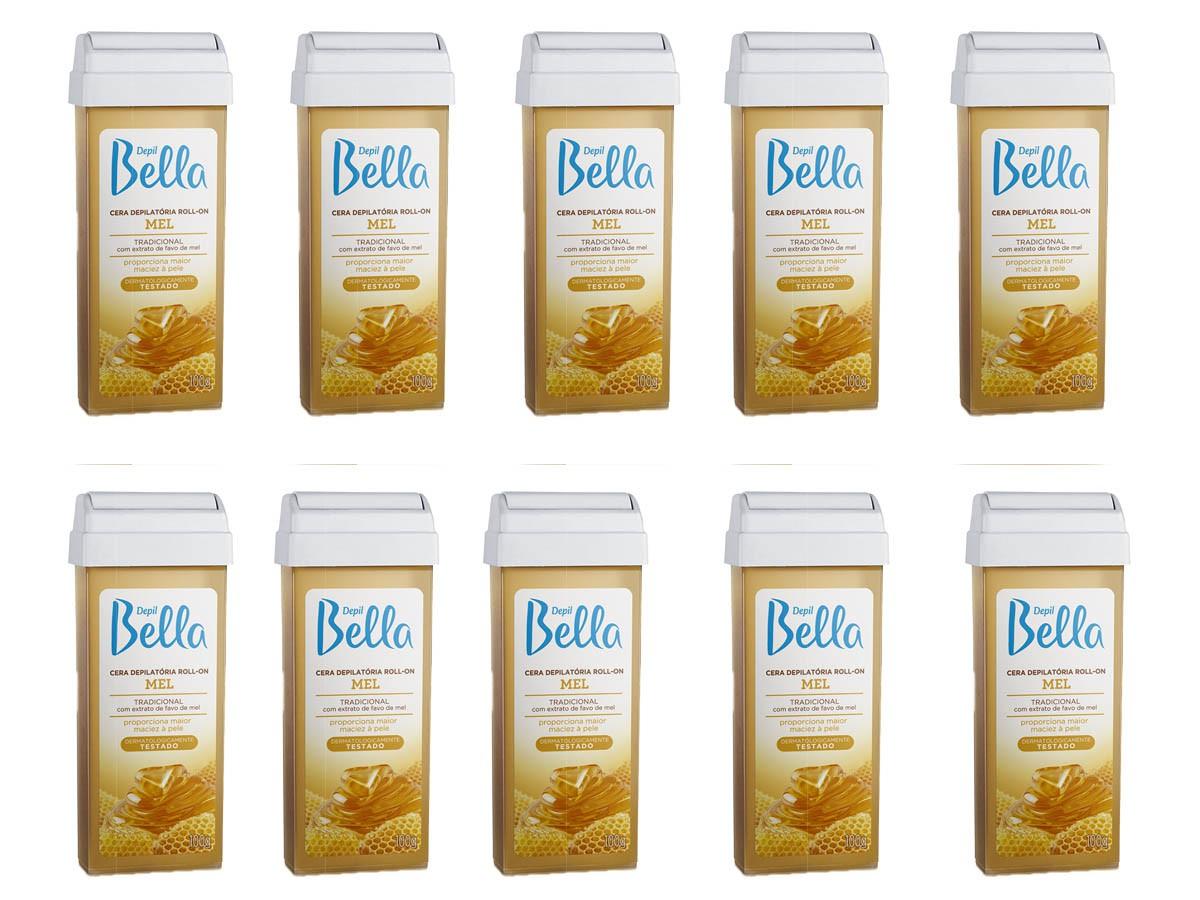 Cera Depilação Mel Roll-on 10 unidades Depil Bella