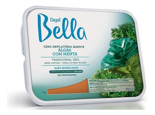 Cera Depilatória Algas com Menta 1kg Depil Bella