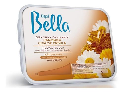 Cera Depilatória Camomila com Calêndula 1kg Depil Bella