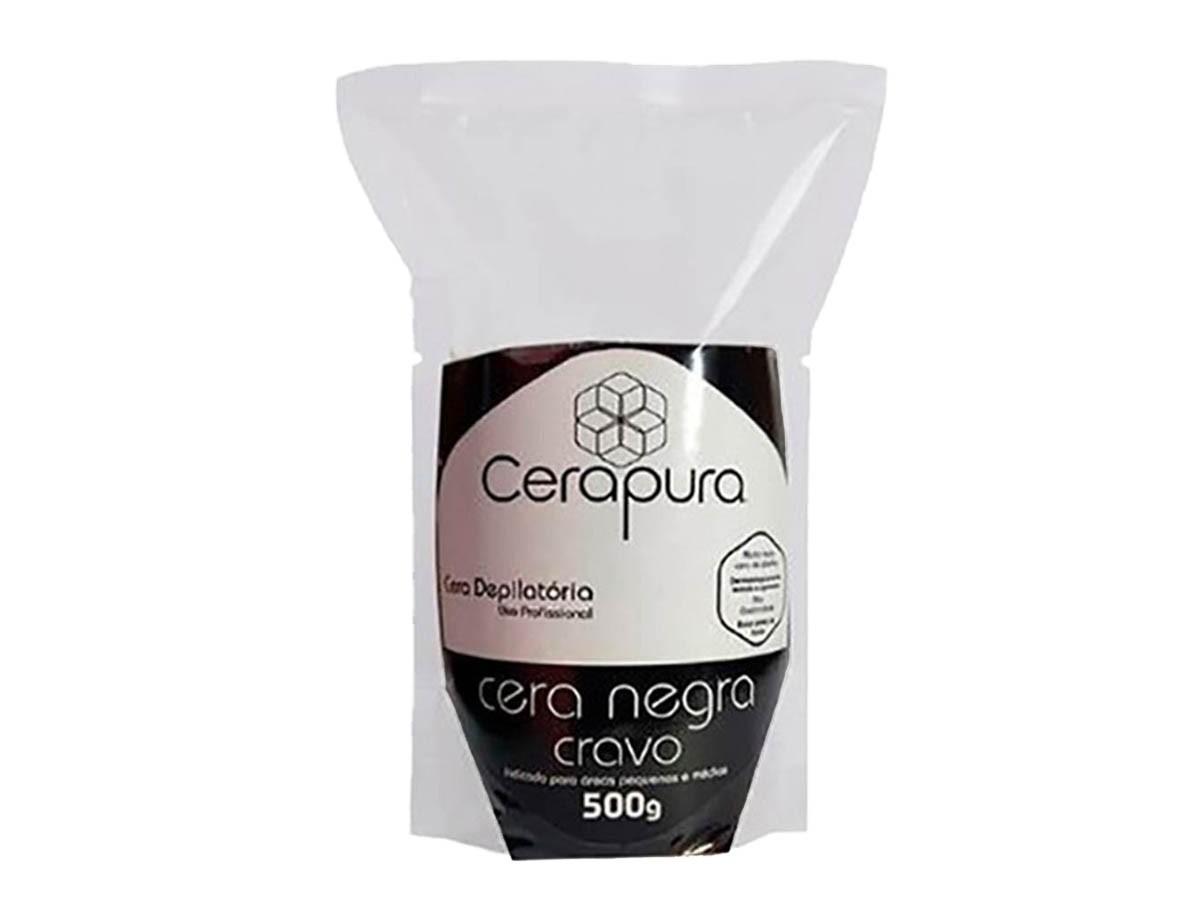 Cera Depilatória Elástica Sistema Espanhol 500g Negra Cera Pura