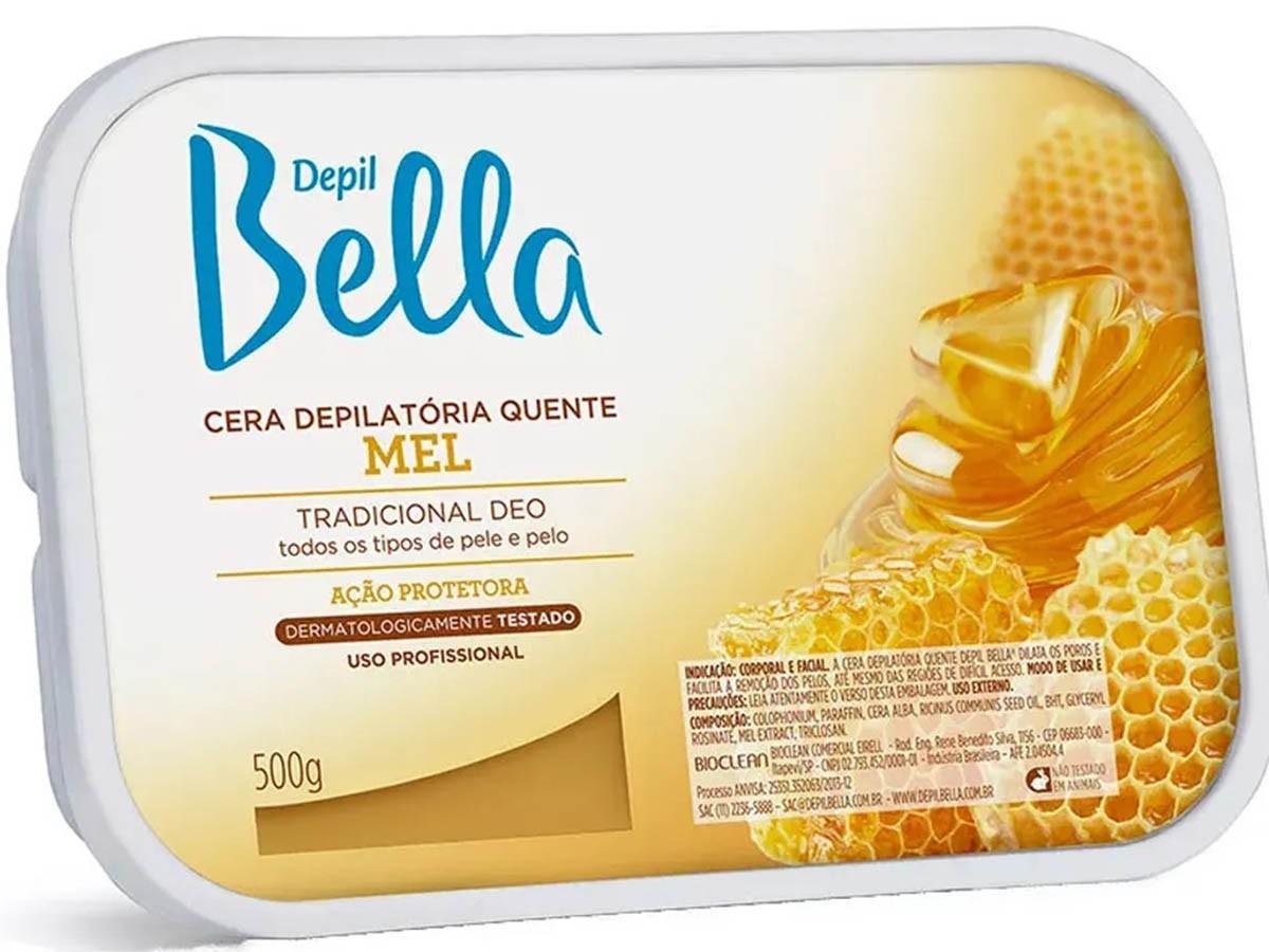 Cera Depilatória Mel 500g Depil Bella