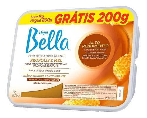 Cera Depilatória Mel e Própolis 800g Depil Bella