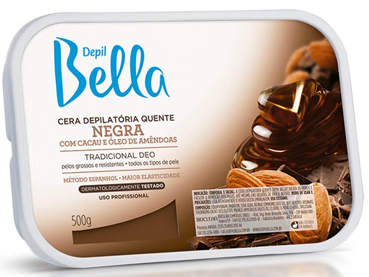 Cera Depilatória Negra 500g Depil Bella