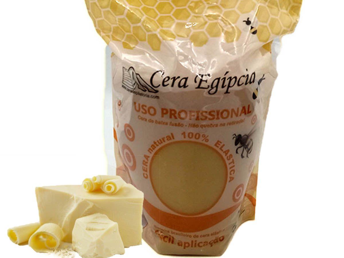 Cera para Depilação Elástica Sistema Espanhol Chocolate Branco 500g