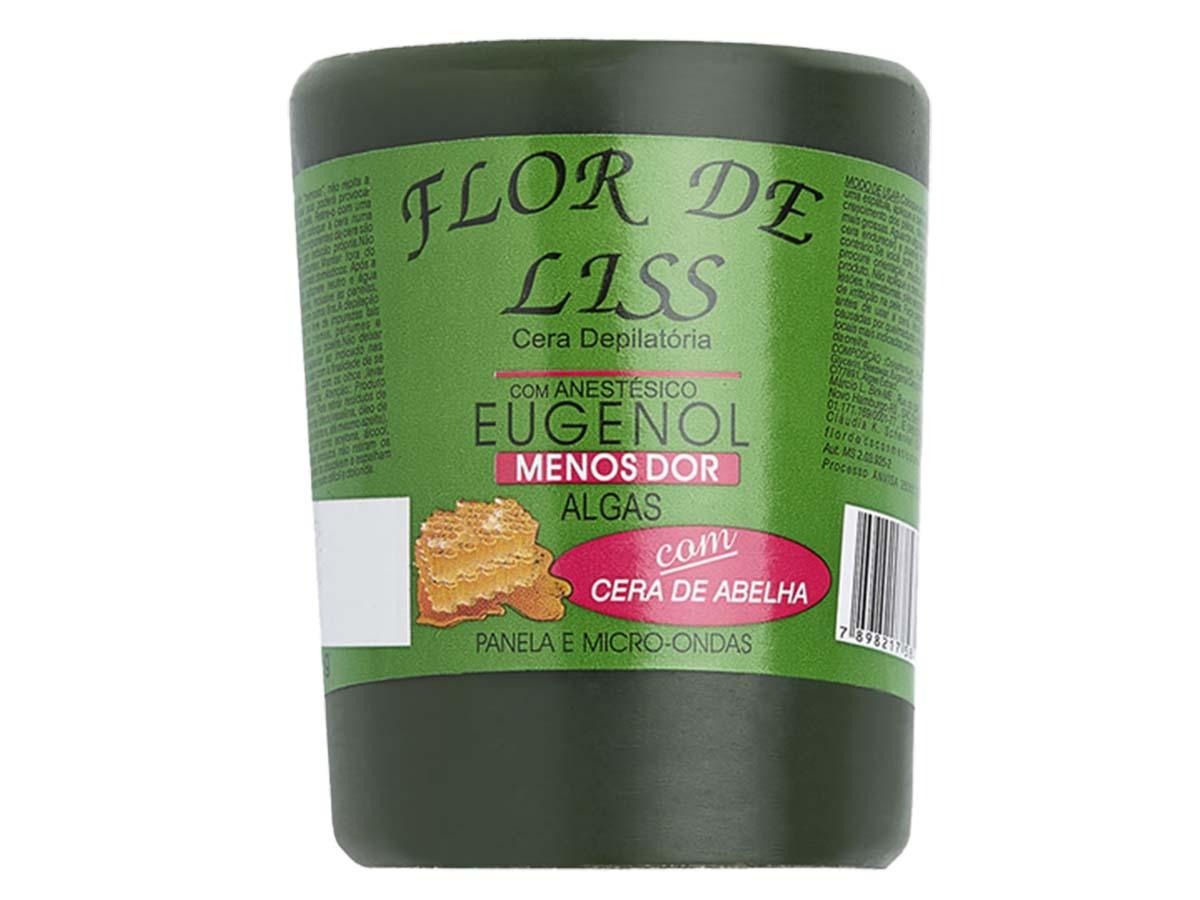 Cera para Depilação Quente Anestésica Algas 400g Flor de Lis