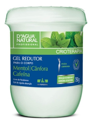 Gel Redutor Crioterápico com Cafeína D'agua Natural