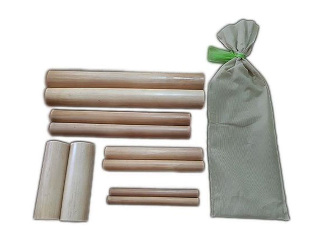 Kit Bambus para Massagem 10 Peças