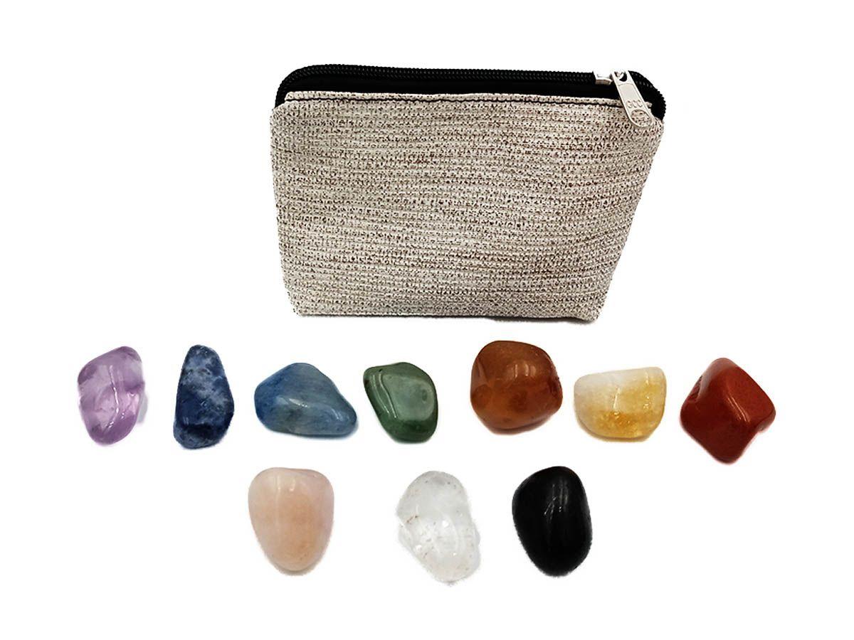 Kit de Cristais dos Chakras - 10 Pedras Semi Preciosas