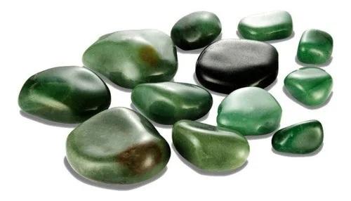 Kit De Cristais Para Massagens Quente Ou Fria Quartzo verde