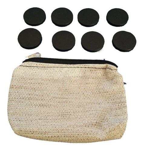 Kit de Massageadores em Pedra Basalto para Reflexologia