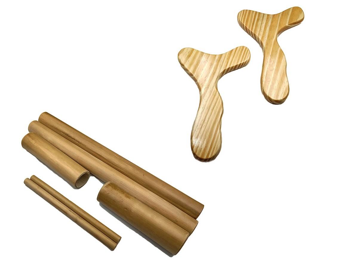 Kit para Massagem Bambu e Pantala